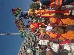 Lors de la grande marche pour le Forum